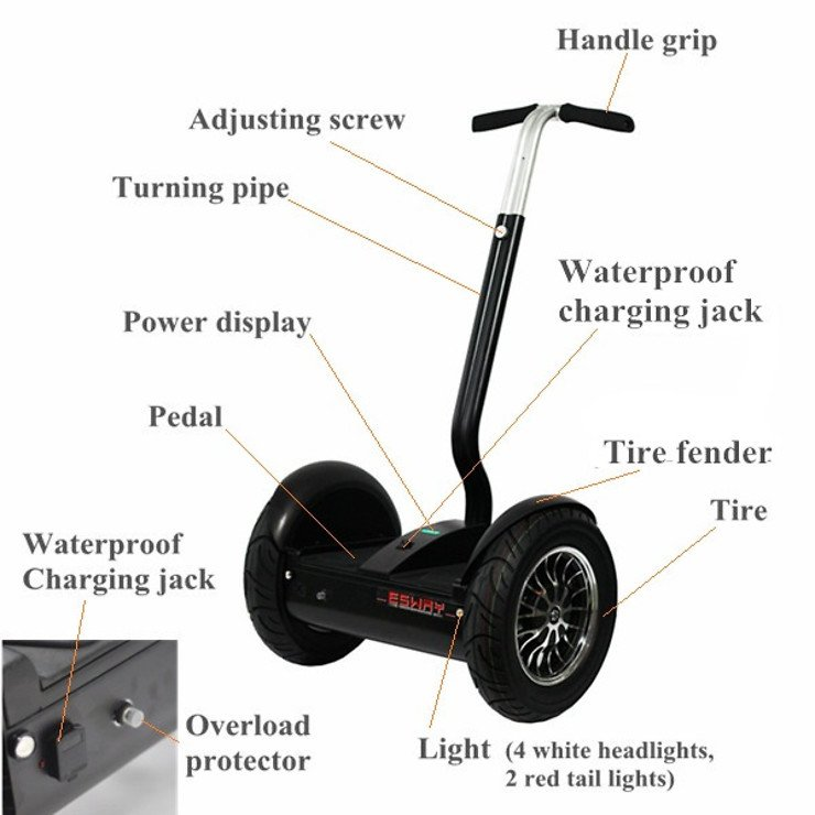 Esway city scooter weiß 48V - Pic 3