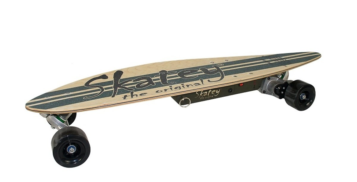 Skatey Electric Skateboard 500 Wood Vintage - Pic 1