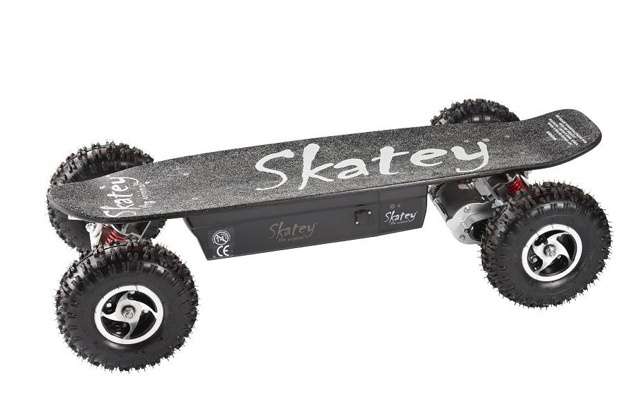 Skatey Electric Skateboard 800 Double Black